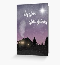 His star shins bright Greeting Card