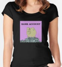 Bank Account Artwork Women's Fitted Scoop T-Shirt