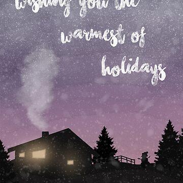 Warm winter wishes sunset by RikaKatsu