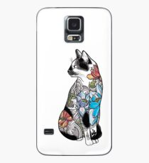 Cat in Lotus Tattoo Case/Skin for Samsung Galaxy