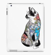 Cat in Lotus Tattoo iPad Case/Skin