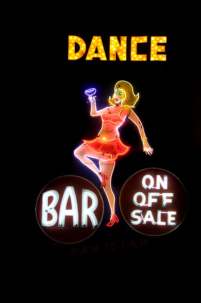 Vintage Bar Neon by Bobby Deal