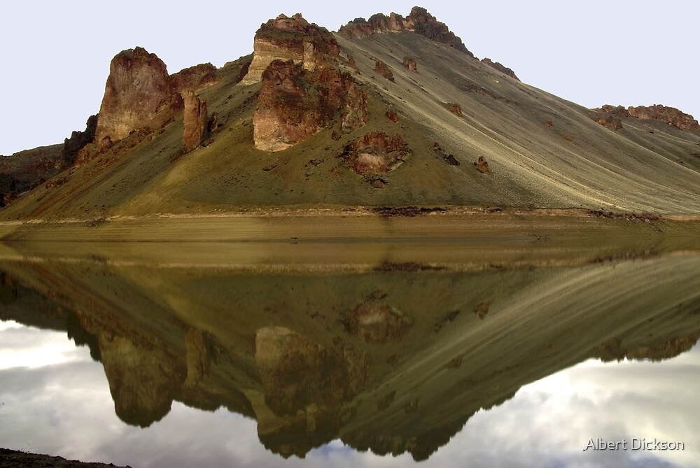 Lake Owyhee at Leslie Gulch, Reflections. Malheur County, Oregon  by Albert Dickson