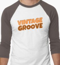 Vintage Font Cool Brown Retro Hipster Simple Text Design Men's Baseball ¾ T-Shirt