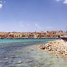 Across the Bay at Marsaxlokk  by Kasia-D