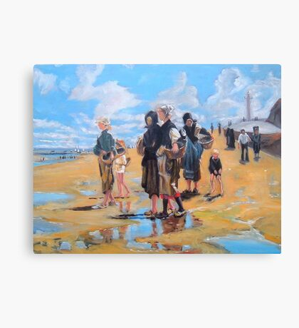 Oyster Gatherers of Cancale after Sargent  Canvas Print