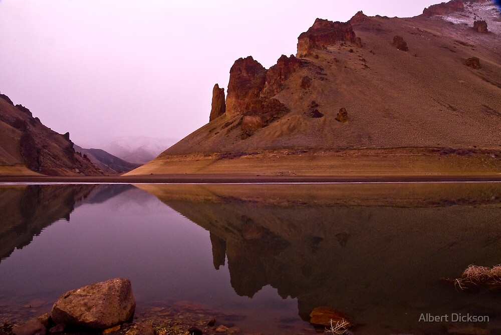 Lake Owyhee at Leslie Gulch by Albert Dickson