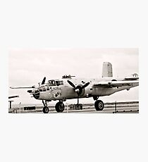 In the Mood B-25 Bomber Sepia Photographic Print