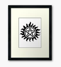 Supernatural Anti-Posession Symbol Framed Print