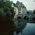 L'Eure & Pont St Hilaire Chartres France 19840825 0044  by Fred Mitchell