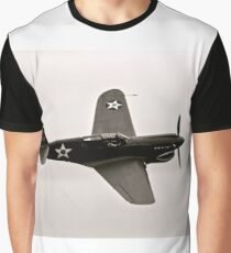 P-40 Warhawk Flying Tiger Airplane Sepia Graphic T-Shirt