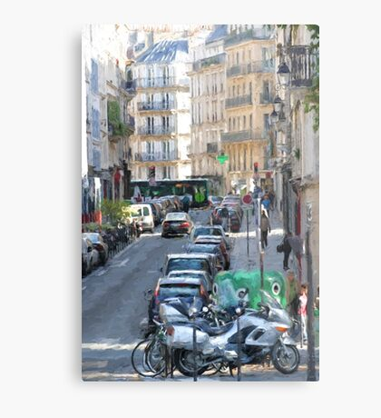 Typical Paris street view Metal Print