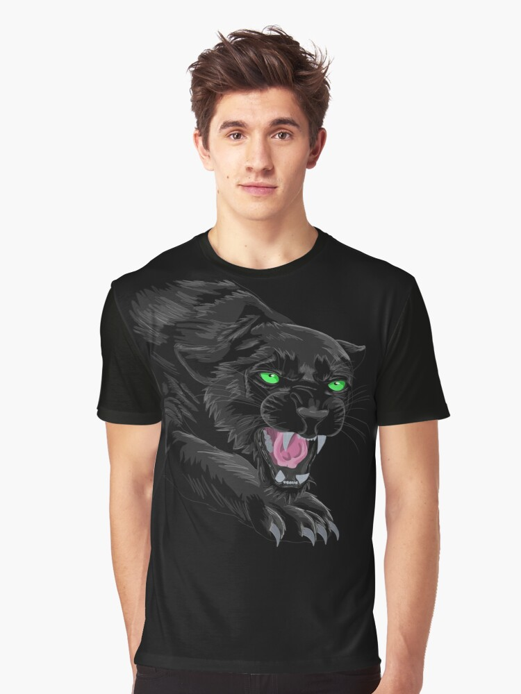 Like a panther, out of sight. Graphic T-Shirt Front