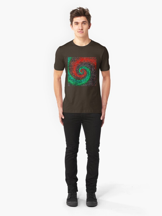 Alternate view of Abstract Golden spiral Slim Fit T-Shirt