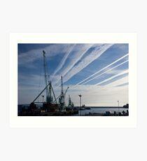 Jet Trails Art Print