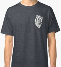 Anatomical Heart (black and white) Classic T-Shirt
