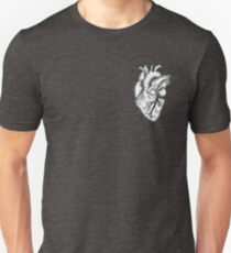 Anatomical Heart (black and white) Unisex T-Shirt