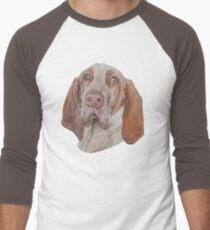 Piper the Bracco Italiano Men's Baseball ¾ T-Shirt