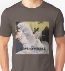 poodle silver love with picture Unisex T-Shirt