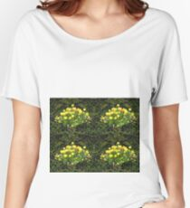 Yellow Tulip Flower Bed Women's Relaxed Fit T-Shirt