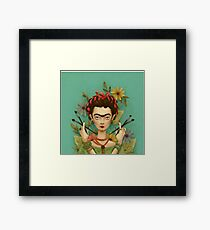 drawing and painting with Frida Kahlo Framed Print