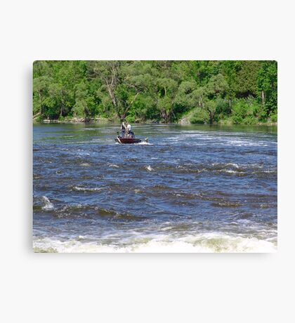 In The Rapids Canvas Print