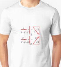 Mathematics, vector algebra, addition of vectors, subtraction of vectors, learning Unisex T-Shirt