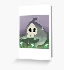 Duskull with Mushrooms Greeting Card