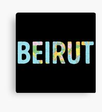 Beirut World Map - Cool Lebanon Traveler Gift Canvas Print