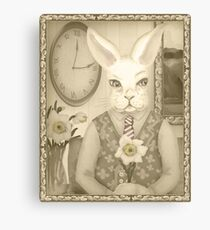 Pooka Portrait with Daffodil  Canvas Print