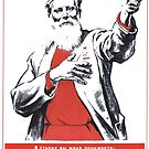 Political visual agitation in the Soviet Union: Political poster by znamenski
