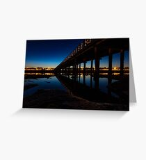 Low Tide At The Wooden Bridge Greeting Card
