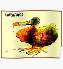 ANCIENT DODO : Vintage Extinct Bird Painting Print Poster