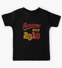 Awesome Since June 2010 Shirt Vintage 8th Birthday Kids Tee