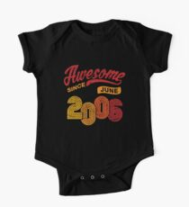 Awesome Since June 2006 Shirt Vintage 12th Birthday One Piece - Short Sleeve