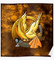 Hunger Phoenix Pokeball Poster