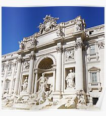 Make a Wish: Trevi Fountain in Rome, Italy #art #decor #photography #myaspiringsoulfullife #travel #rome #italy #trevifountain Poster