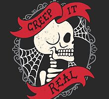 Creep It Real Vintage Skeleton  by Rachel Krueger