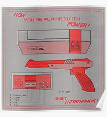 NES - Now You're Playing With Power Poster