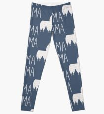 Mama Llama No Problama Funny Llamafest Graphic Tee Shirt Leggings