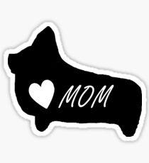 Cute Corgi Mom Owner Lover T-Shirt Coffee Mug iPhone Case Gift Sticker