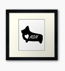 Cute Corgi Mom Owner Lover T-Shirt Coffee Mug iPhone Case Gift Framed Print