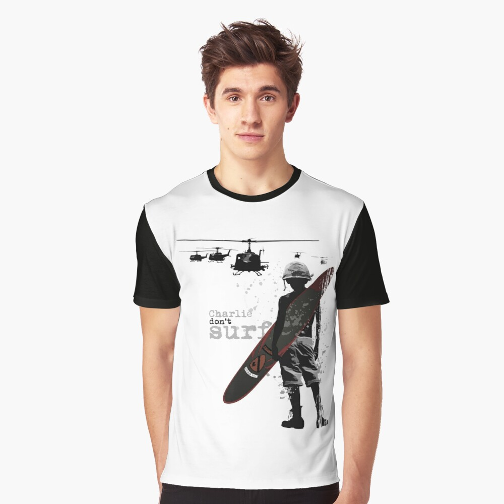 Charlie Don't Surf Graphic T-Shirt Front