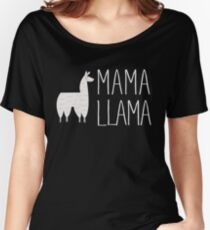 Mama Llama No Problama Funny Llamafest Graphic Tee Shirt Women's Relaxed Fit T-Shirt