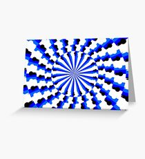 Illusion Pattern #blue #symmetry #circle #abstract #illustration #pattern #design #art #shape #bright #modern #horizontal #colorimage #royalblue #inarow #textured Greeting Card