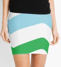 large chrevron pattern  Mini Skirt