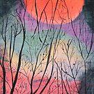 Bush Fire Moon by Wendy Sinclair