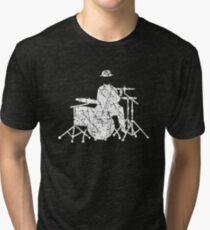 Jazz Drummer Grunge Style Tri-blend T-Shirt