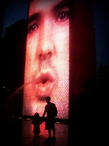 Crown Fountain - Chicago by Ghelly