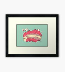 Jelly heart Framed Print